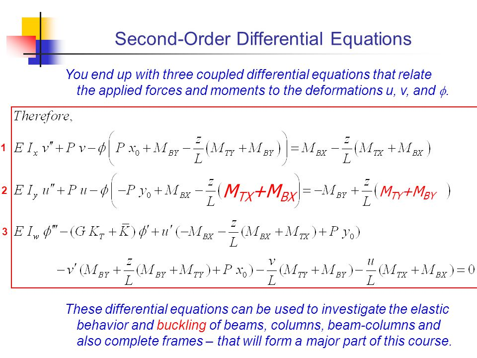 Second-Order Differential Equations
