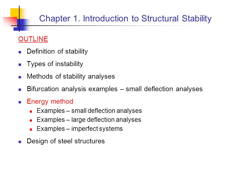 Chapter 1. Introduction to Structural Stability