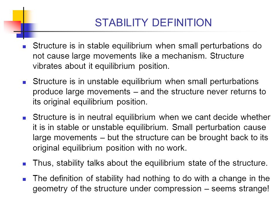 STABILITY DEFINITION