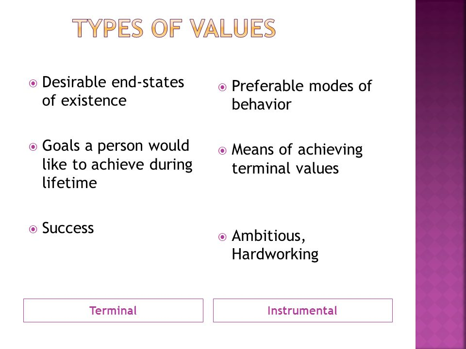 a comparison of intrinsic and instrumental values Cate relational values are distinct as a construct when compared to the  intrinsic  or instrumental and monetized value is also not reflective of.