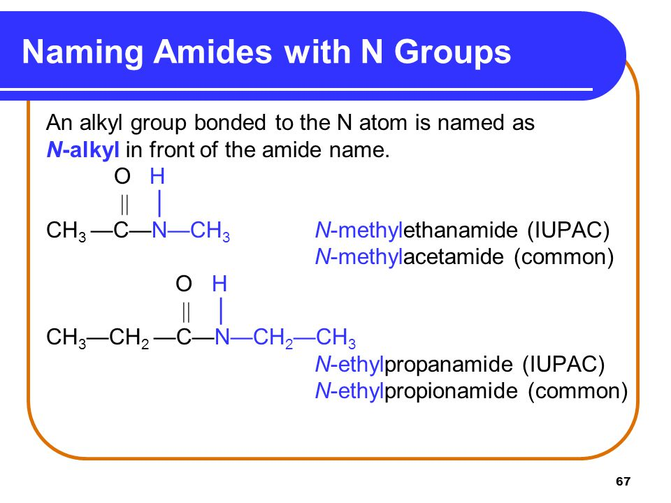 Naming Amides with N Groups
