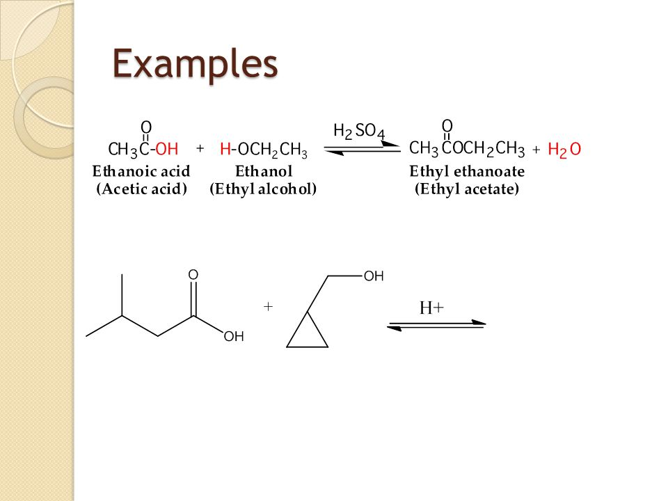 making ethyl ethanoate Preparation of esters last updated save as pdf share if you were making ethyl ethanoate from ethanoic acid and to make a small ester like ethyl ethanoate.