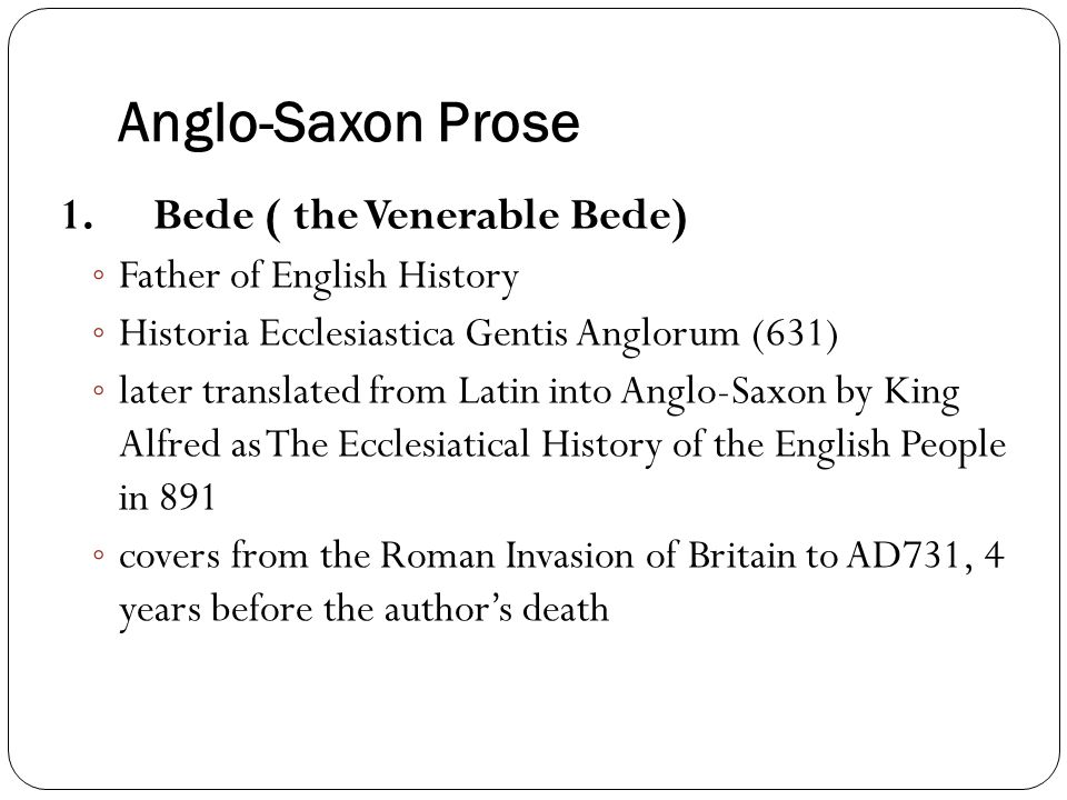 Language of Old English Literature based on Poetry and Prose – Essay