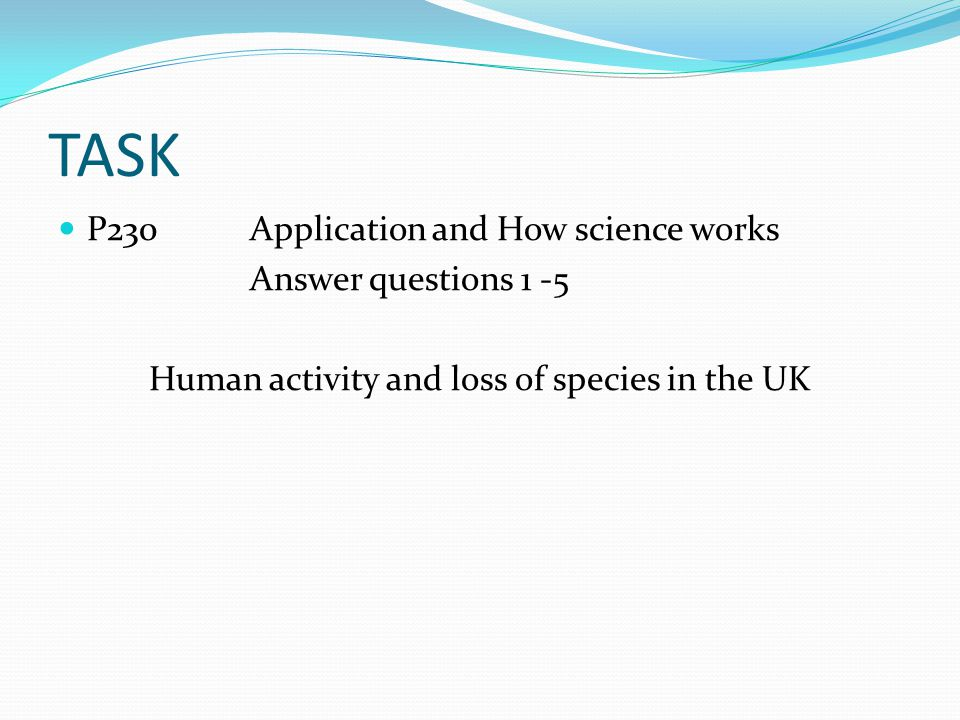 Human activity and loss of species in the UK