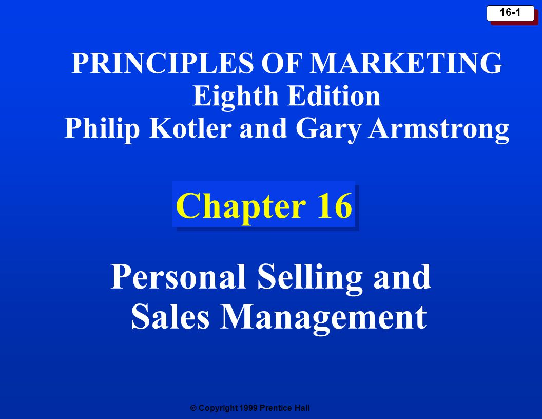 personal selling and sales management Marketing assignment on: personal selling sales management q1 why is personal selling so important in a time when technology is seemingly replacing people.