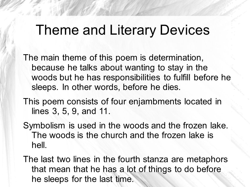 robert frost stopping by woods on a snowy evening essays This 429 word essay is about robert frost, stopping by woods on a snowy evening, frost, british poetry, christian poetry read the full essay now.