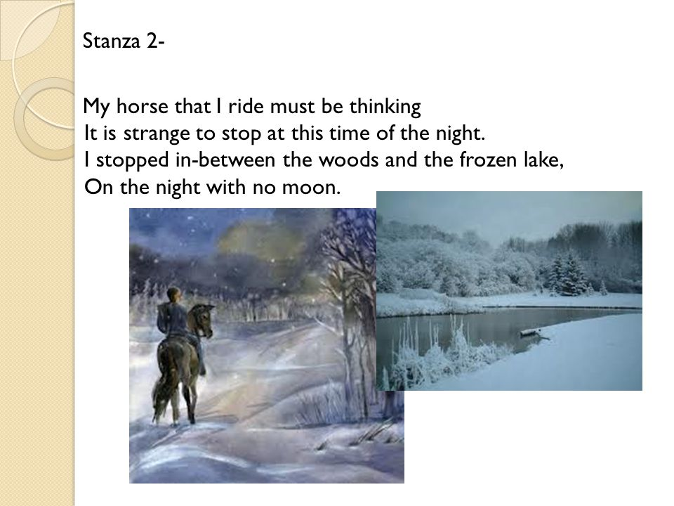 "frost s ""stopping by woods on a snowy evening"" an analysis ppt  5 stanza"
