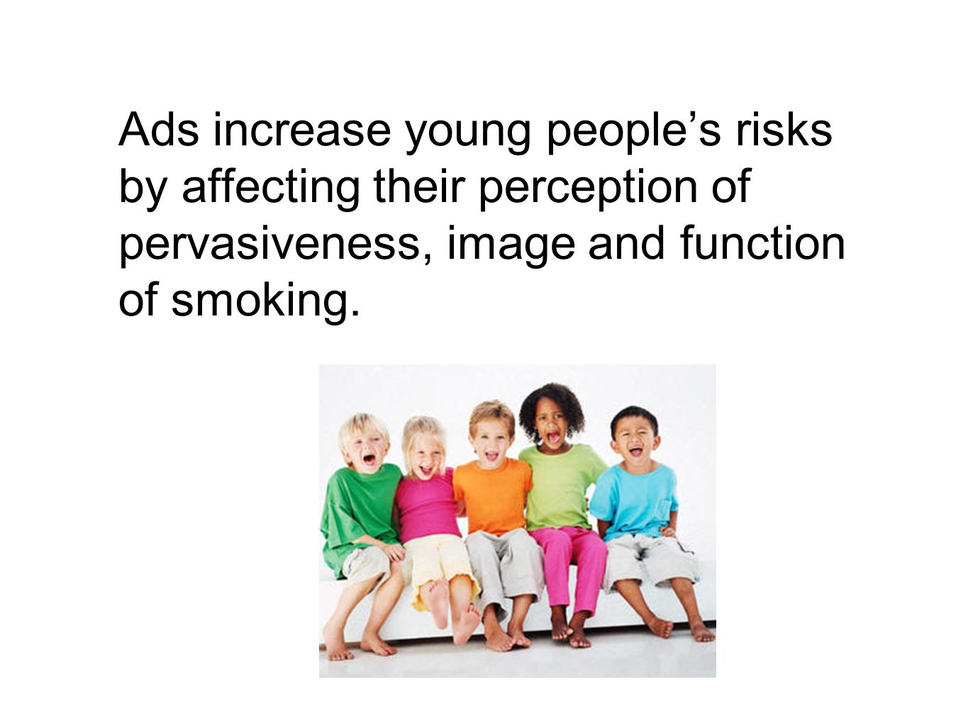 The effects of tobacco advertising on young people