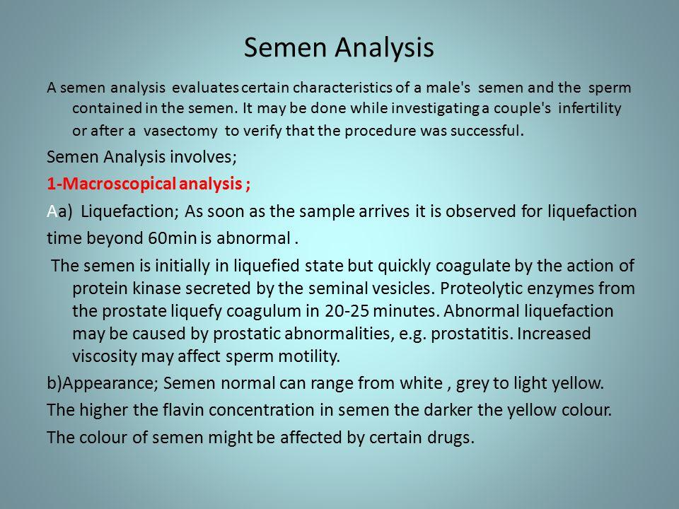semen color after vasectomy