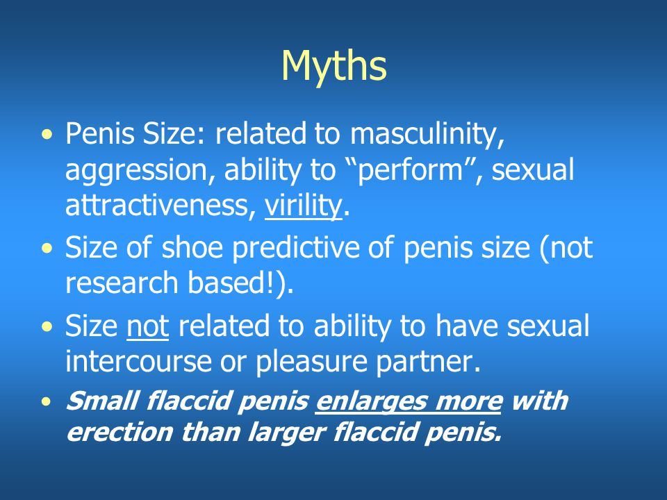 does shoe size relate to penis size
