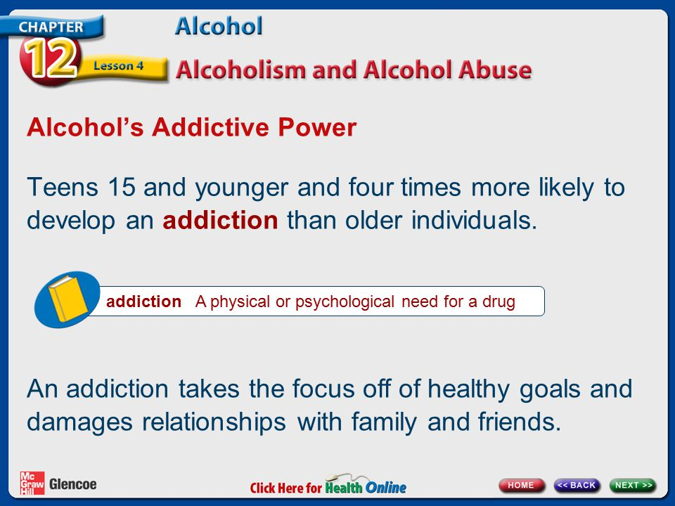 Alcohol's Addictive Power