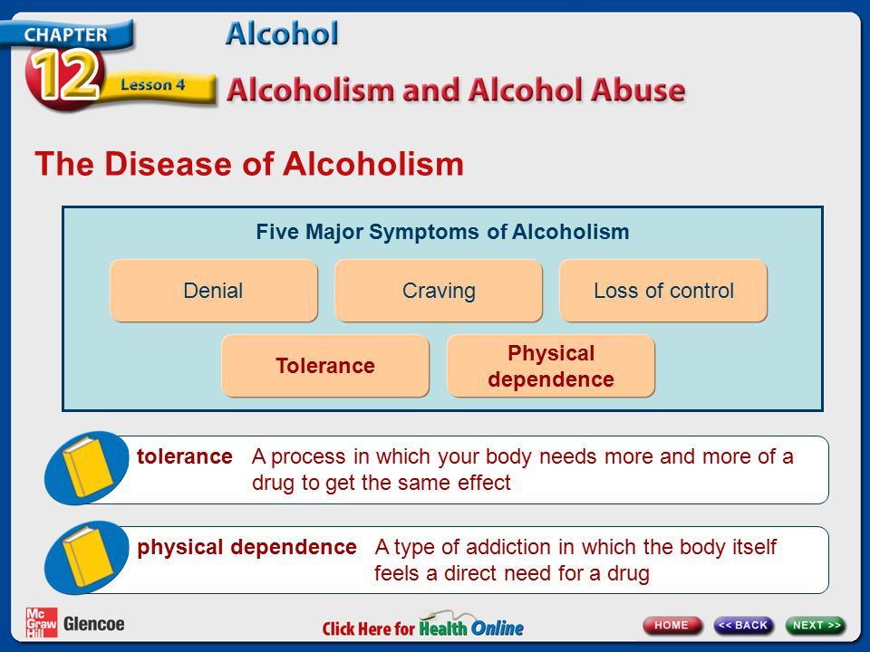 The Disease of Alcoholism