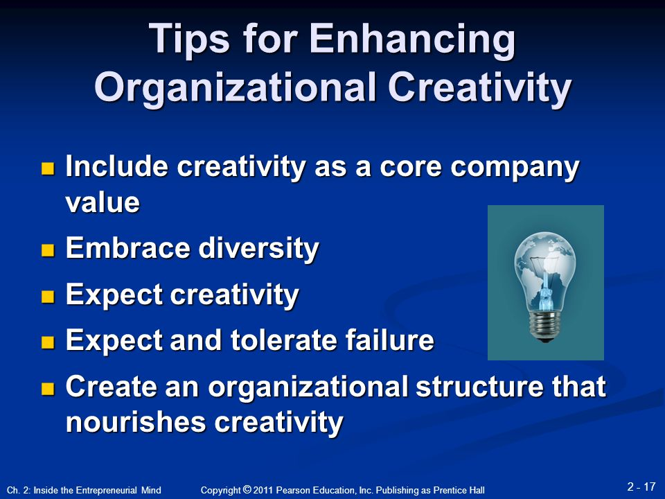 enhancing creativity enriching the organization and