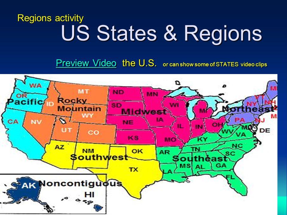 10 Regions Activity Us States