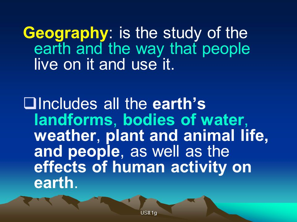 What does geography include - answers.com