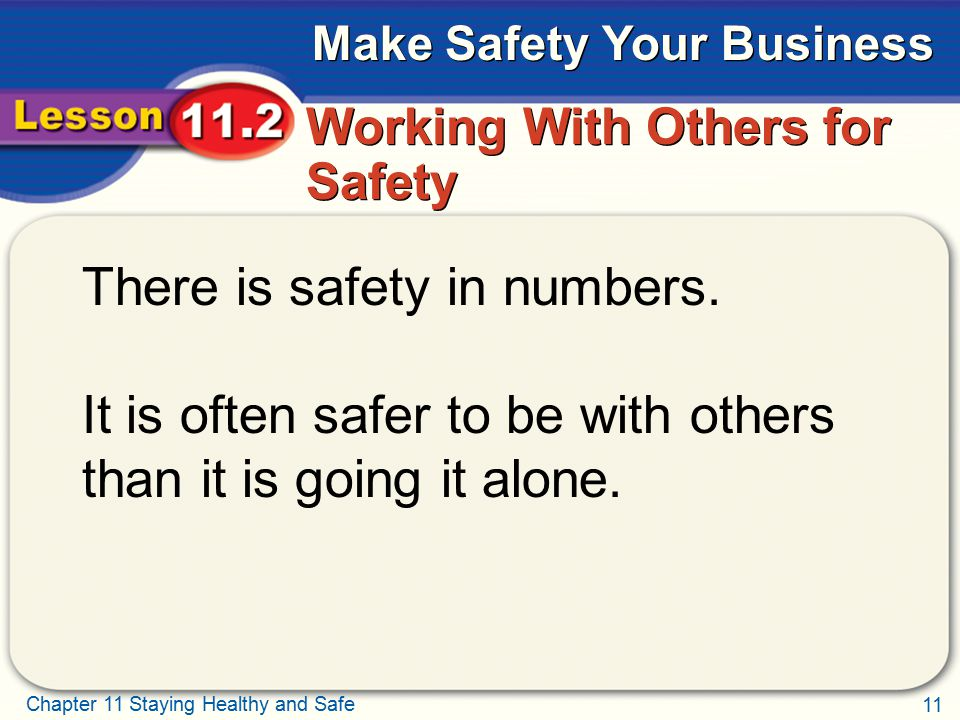 Working With Others for Safety