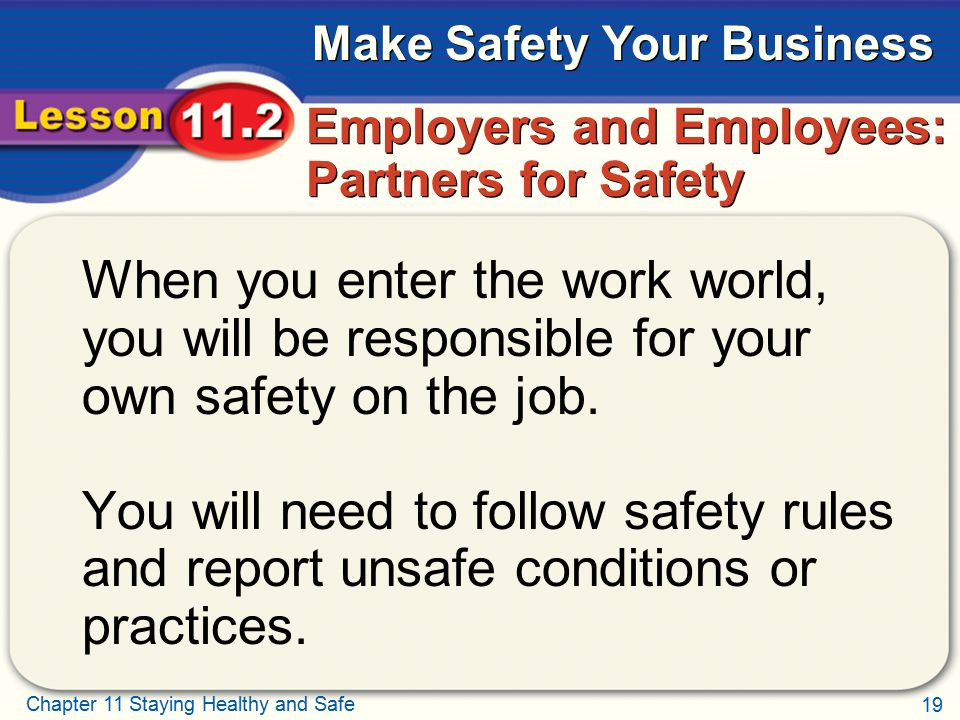 Employers and Employees: Partners for Safety