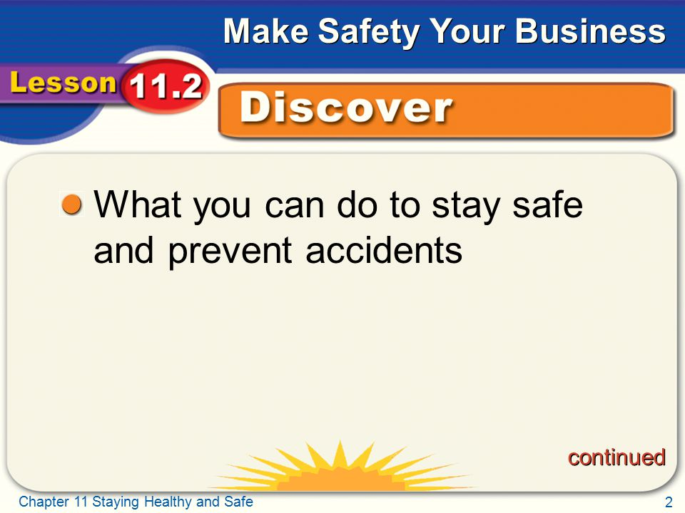 What you can do to stay safe and prevent accidents