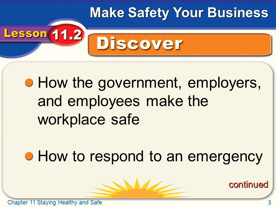How the government, employers, and employees make the workplace safe