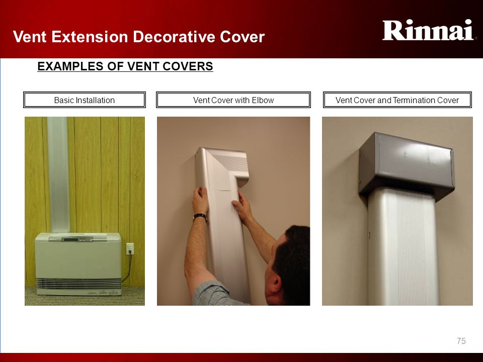 Rinnai Energysaver 174 Direct Vent Wall Furnace Installation
