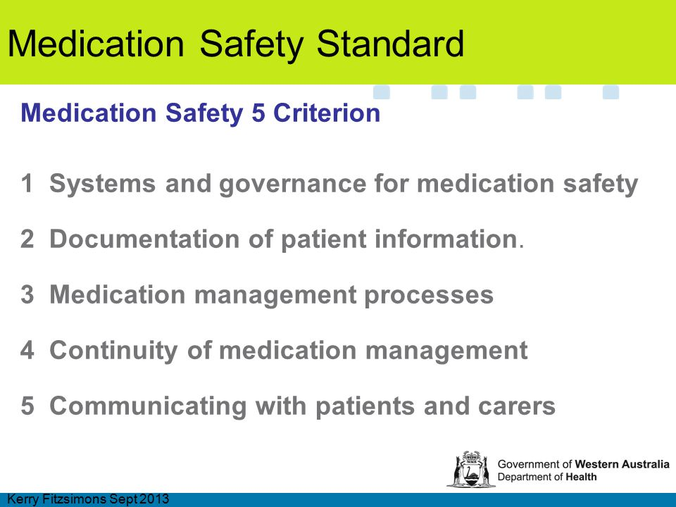 Medication Safety Wa Style Ppt Video Online Download