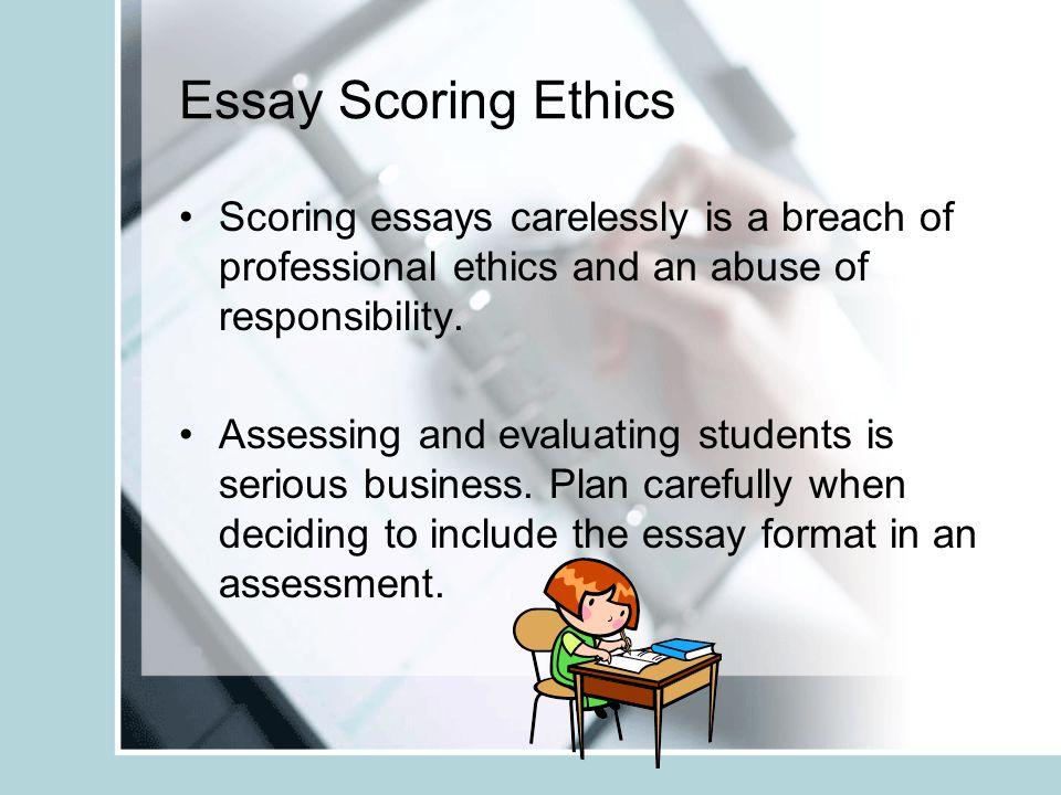 essay assessment tasks ppt video online 12 essay scoring ethics