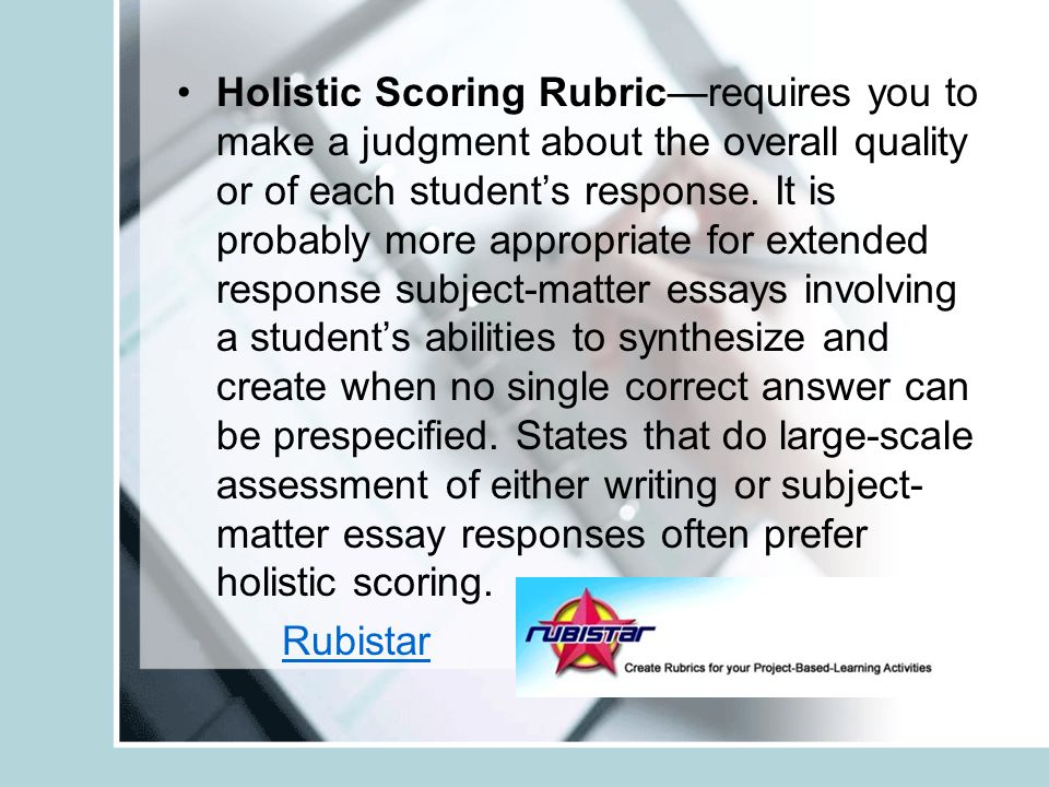 scoring student responses to essay questions The number of questions  raters do not take or provide detailed notes when scoring responses for information regarding scoring and reporting procedures.