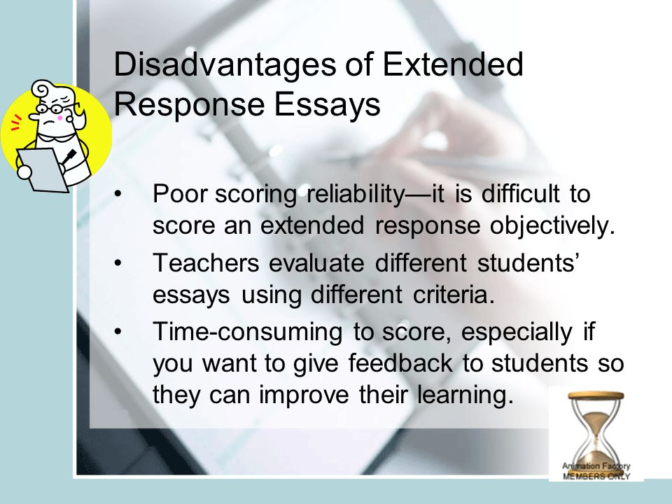 disadvantages of essay examination Disadvantages of studying abroad essay who were struggling with their studies in preparation for their examination advantages than disadvantages essay.