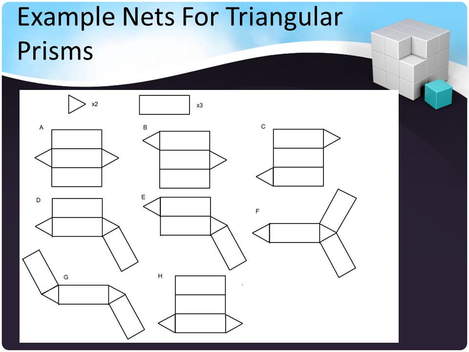 Example Nets For Triangular Prisms