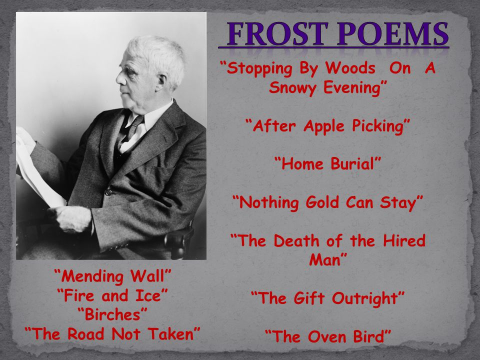analysis of robert frosts departmental This sample poetry analysis reviews two works by famous the famous poets robert frost and jean rhys, including an analysis of style and voice.