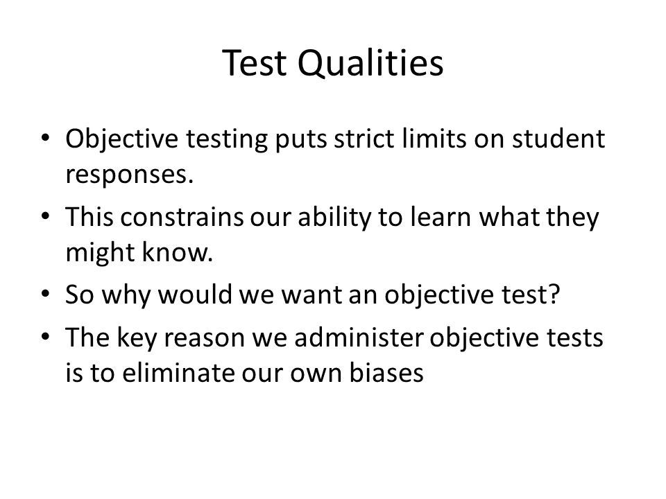 the biases in testing essay These instructional pages focus on scholarly voice and topics such as precision, clarity, point of view, avoiding bias, and more skip to main content writing center.