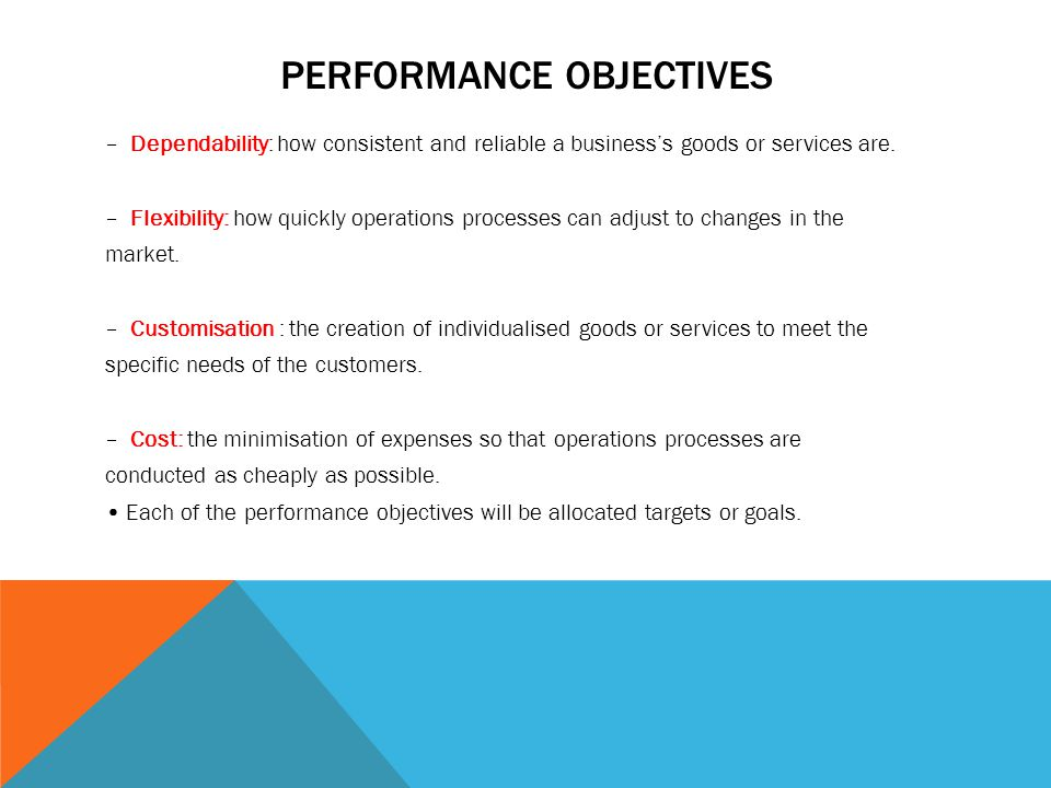 mcdonald s operations performance objectives Frost, shelley (2018, february 12) list of non-financial performance objectives small business - chroncom.