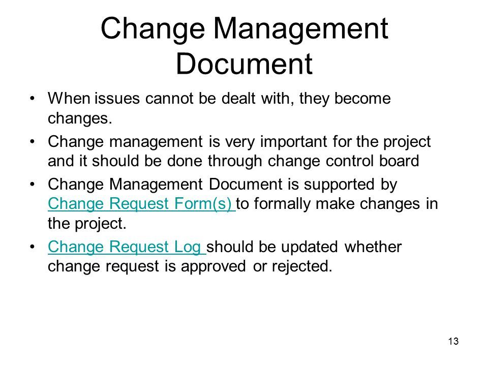 Advanced project management project plan templates ppt for Documents for change management