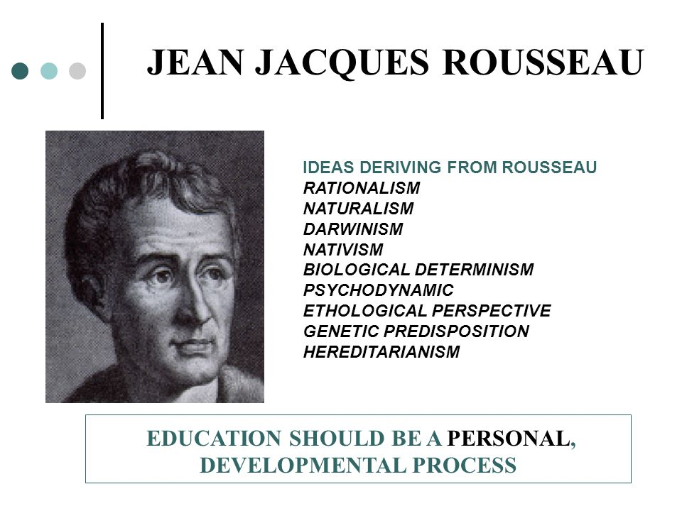 Examples List on Educational Theory Of Jean Jacques Rousseau Education