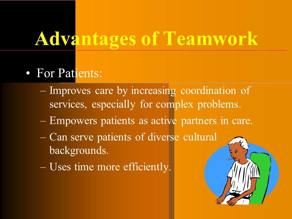 Advantages of Teamwork