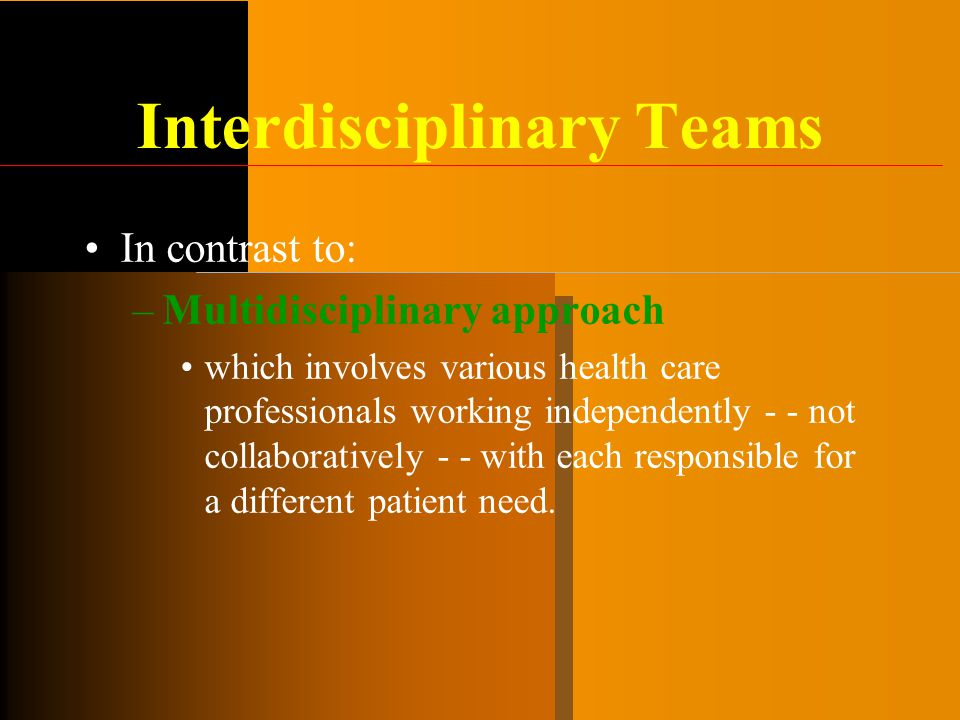 the need for an interdisciplinary approach An interdisciplinary approach is a style of education that incorporates knowledge and skills from many areas of learning what is an interdisciplinary approach the student would need to use reading comprehension skills in order to understand what the question was asking.