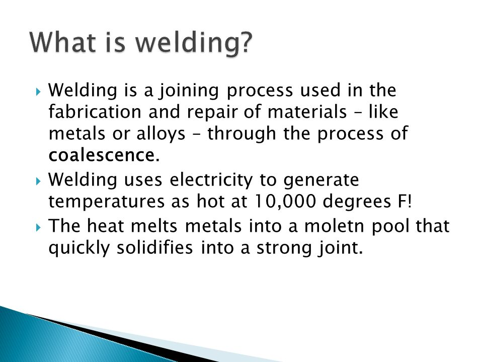 What is welding