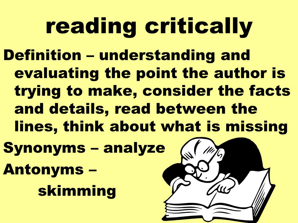 how to read literature critically