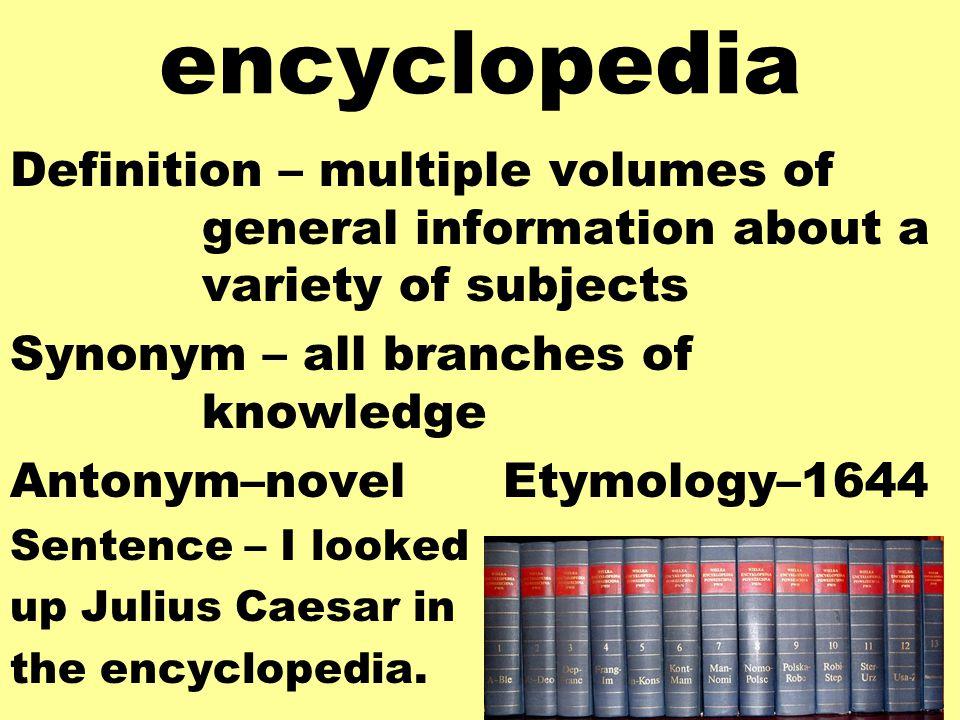 12 Encyclopedia Definition ...