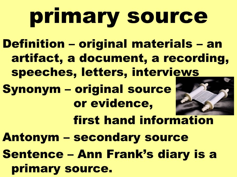 how to tell if primary or secondary source
