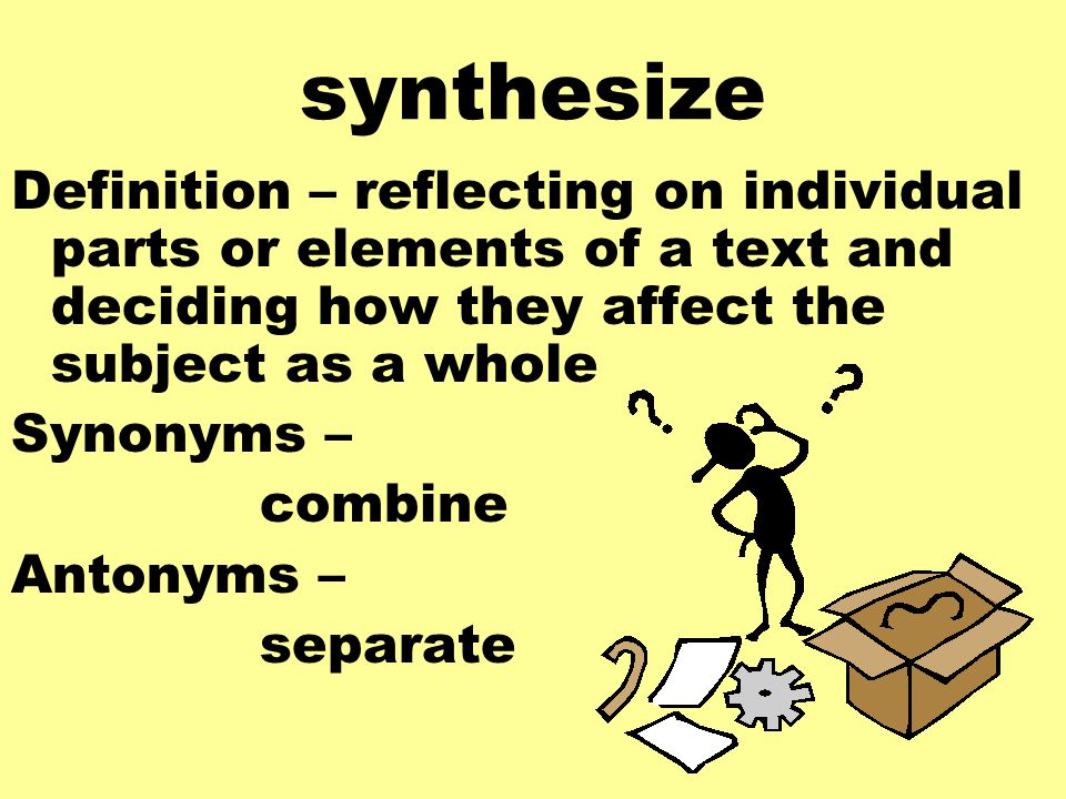 synonym of synthesise Synthesised definitions: to combine so as to form a more complex, product | to   synonyms: synthesize [american/canadian spelling], synthetise [british.
