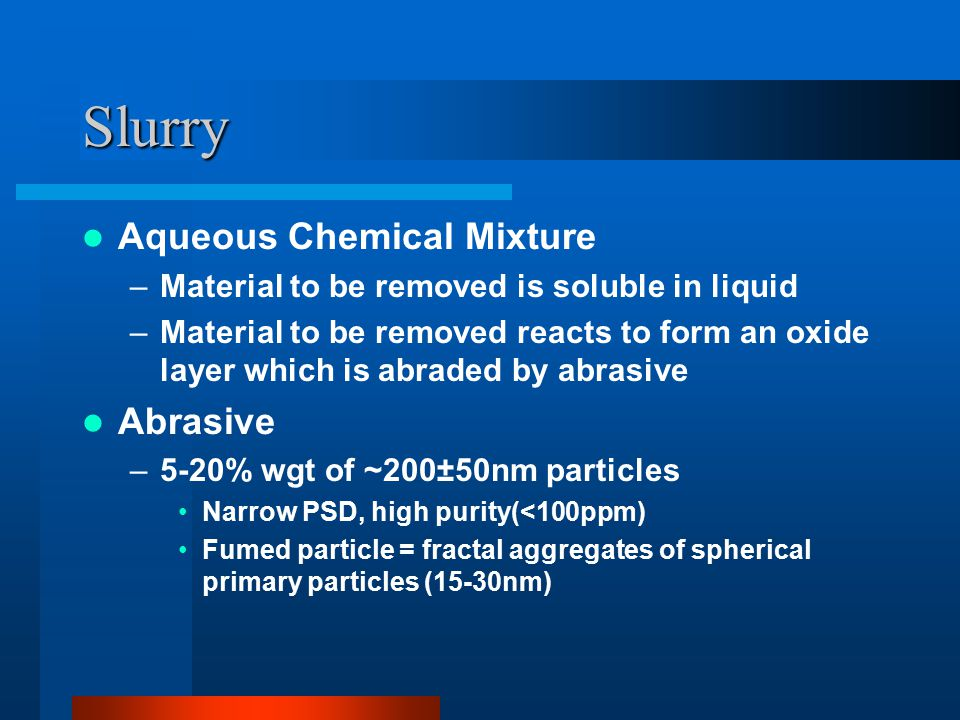 Chemical Mechanical Polishing Ppt Video Online Download