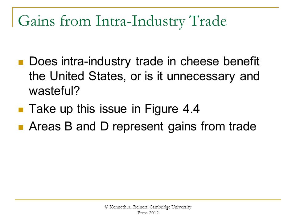 intra industry trade in india Based on the data, provide examples of inter-industry trade and of intra-industry trade with india inter-industry and intra-industry trade intra-industry trade is typically the exchange of the equivalent products belonging to the similar.