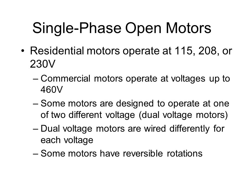 Electric motors types of electric motors ppt video for Types of single phase motor