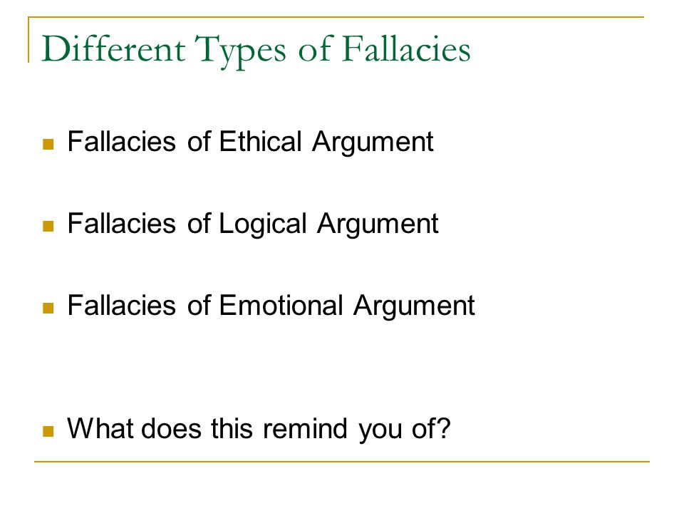 the disruption of logical fallacies