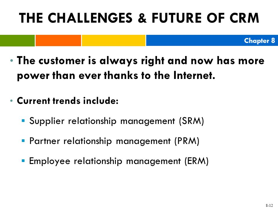 THE CHALLENGES & FUTURE OF CRM