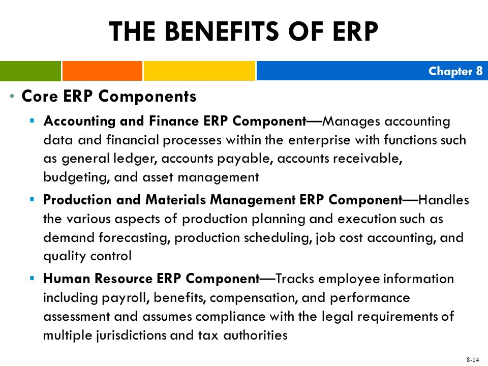 THE BENEFITS OF ERP Core ERP Components