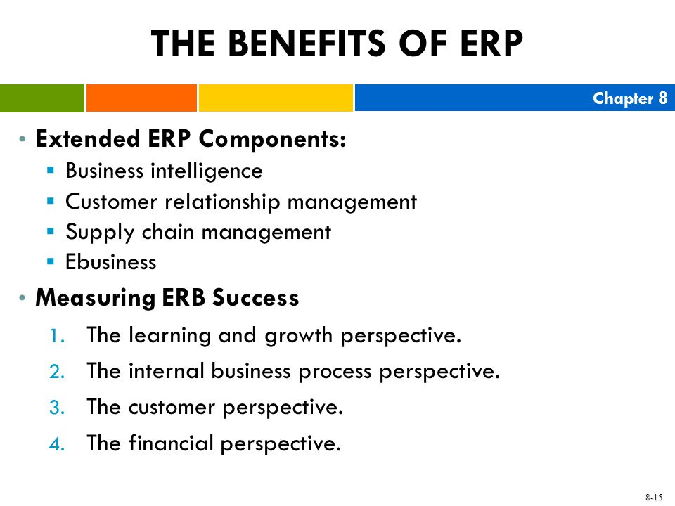 THE BENEFITS OF ERP Extended ERP Components: Measuring ERB Success