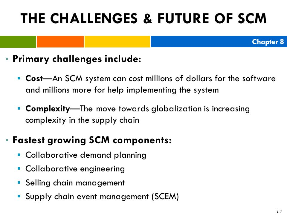 THE CHALLENGES & FUTURE OF SCM