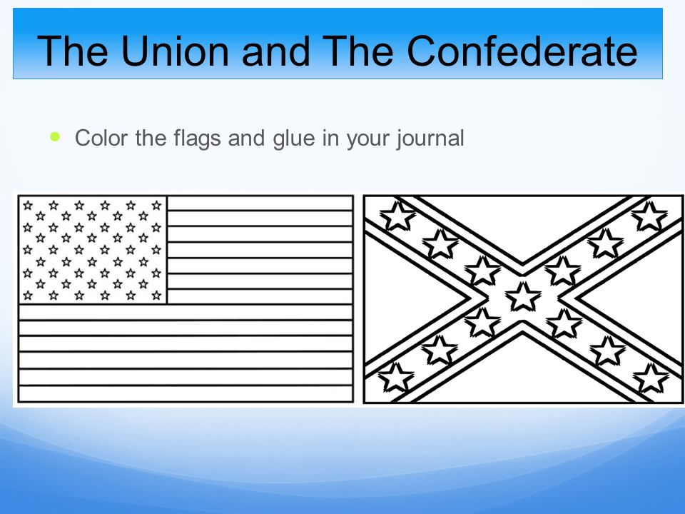 Lesson 3 two sides the north and the south ppt video for Union flag coloring page